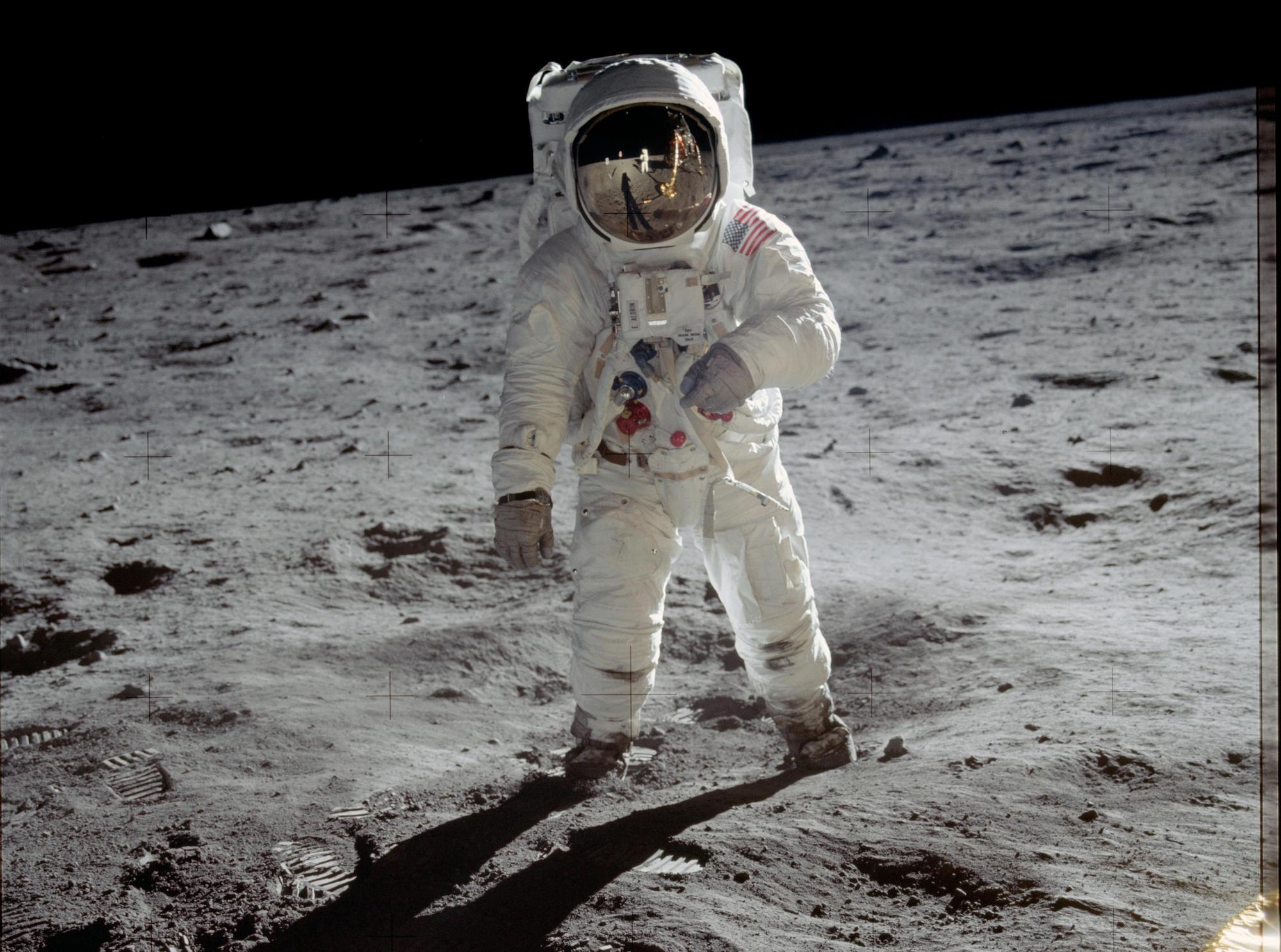 Buzz Aldrin on the moon - NASA