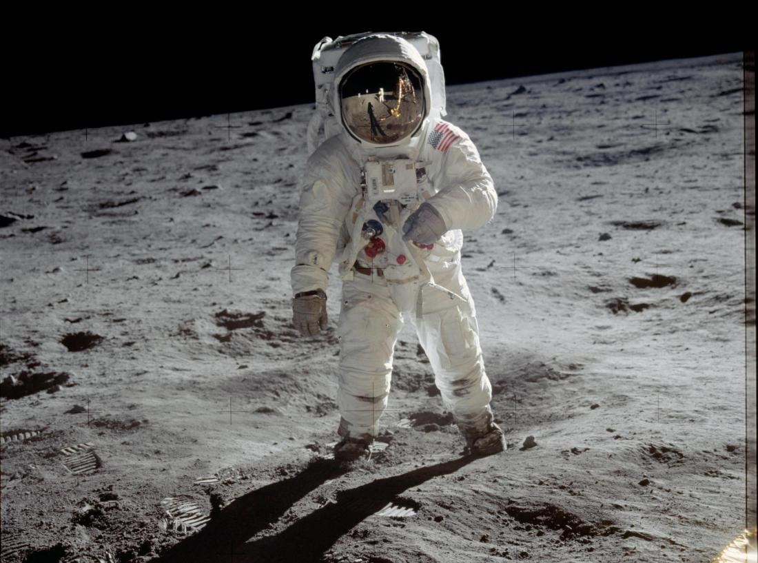 Neil Armstrong on the surface of the moon. Credit: NASA